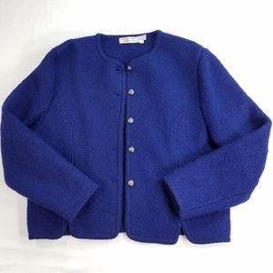 Talbots Boiled Wool Blazer Jacket Sweater Coat
